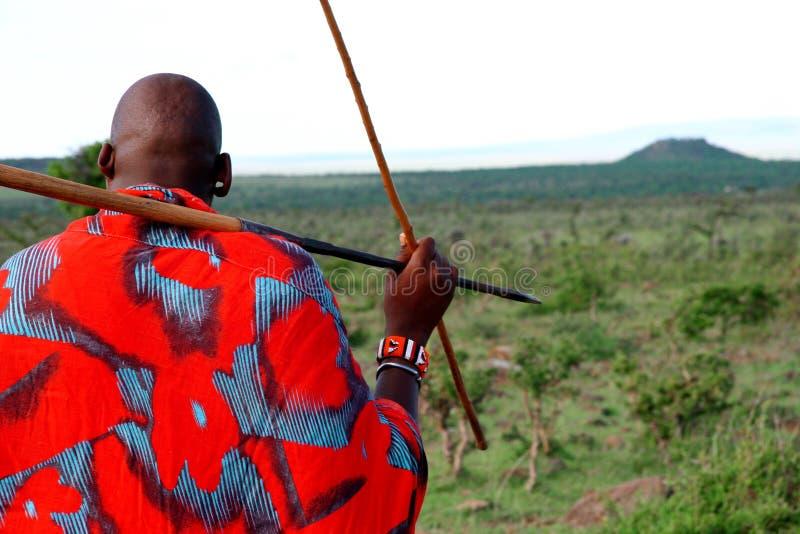 De strijder van Masai stock afbeelding
