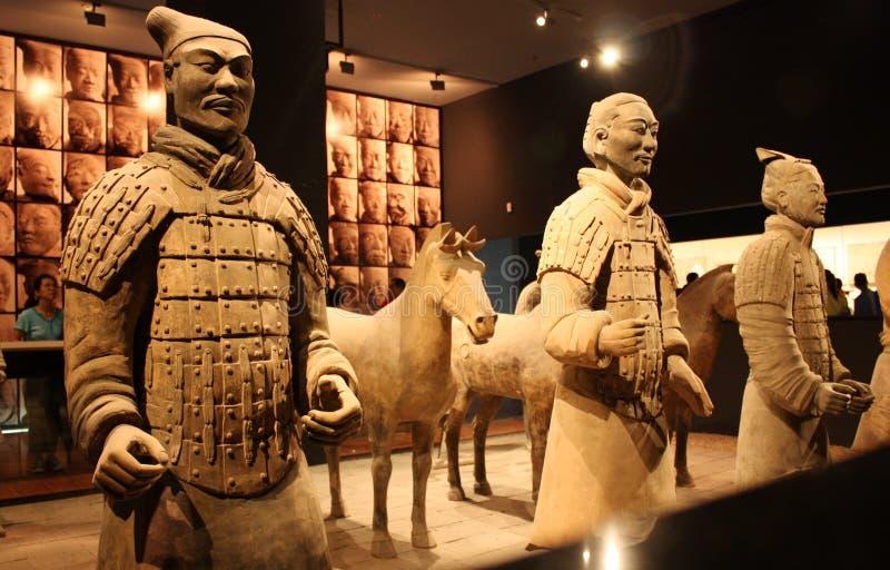 De strijders van het terracotta stock foto