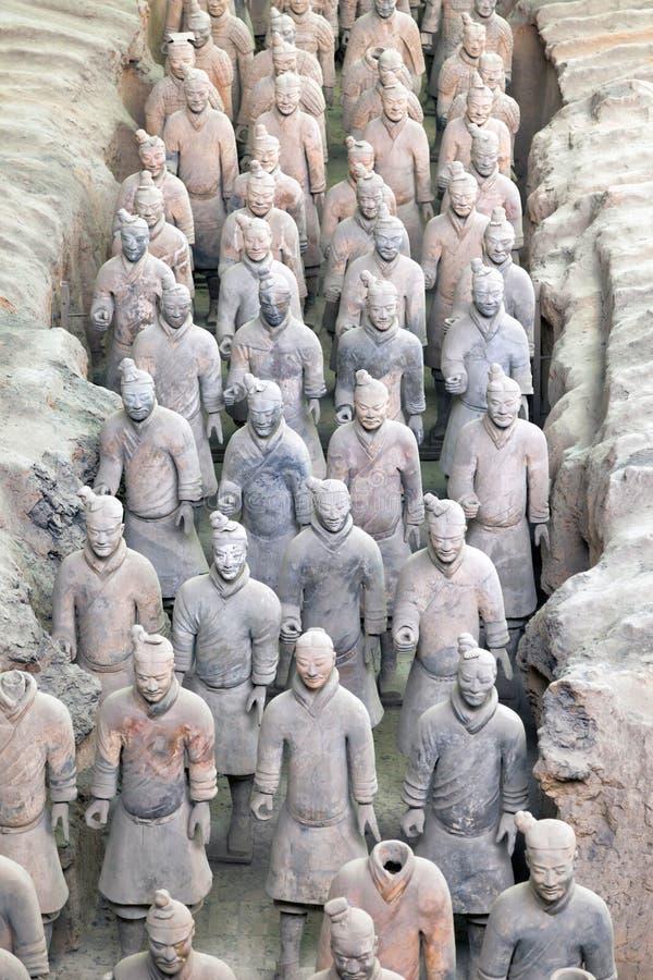 De strijders van het terracotta in Xian, C stock foto