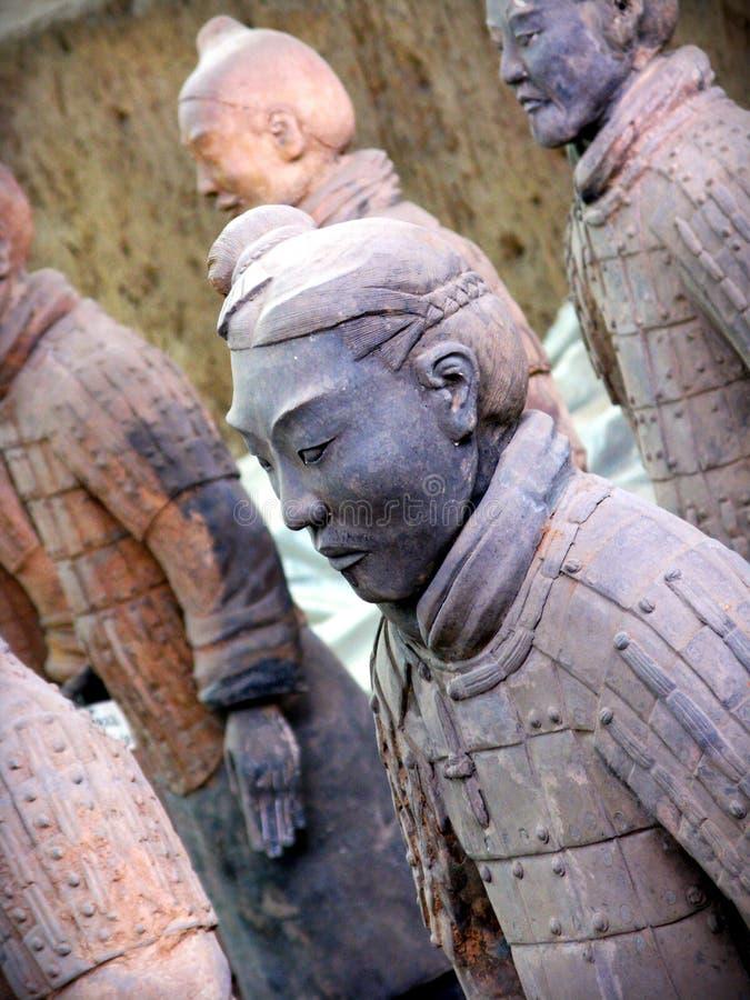 De strijders van het terracotta in Xian, C royalty-vrije stock afbeelding