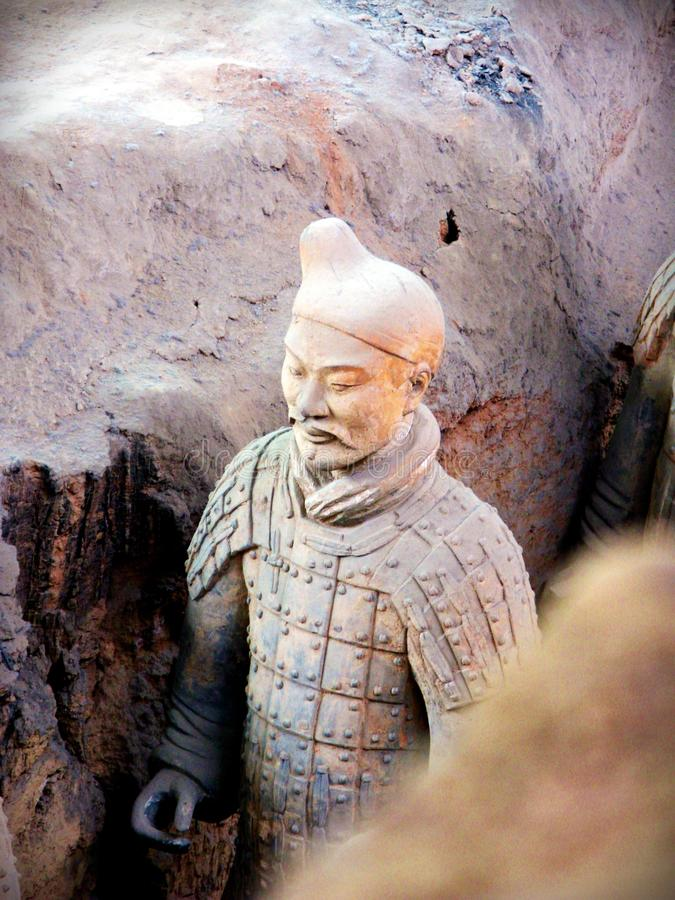 De strijders van het terracotta in Xian, C stock fotografie