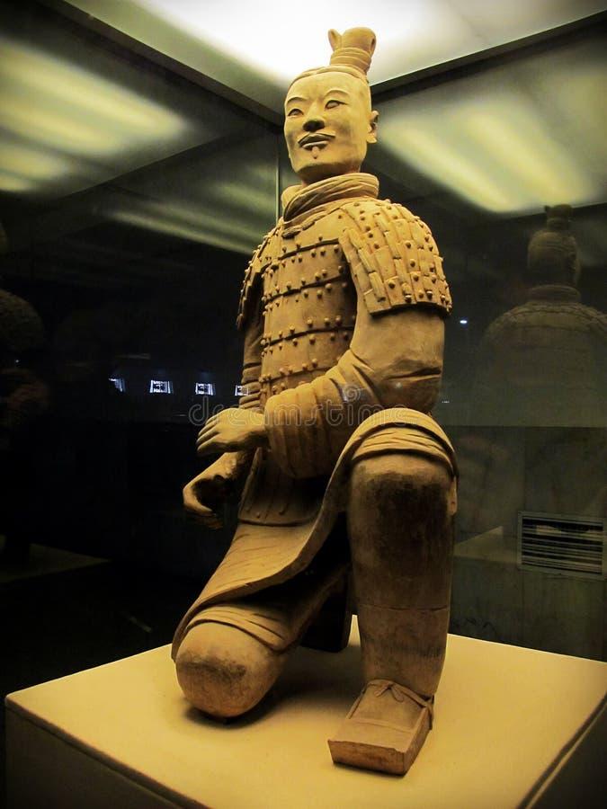 De strijders van het terracotta in Xian, C royalty-vrije stock fotografie