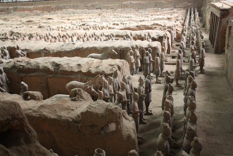De strijdersmuseum van het terracotta, Xian royalty-vrije stock afbeelding
