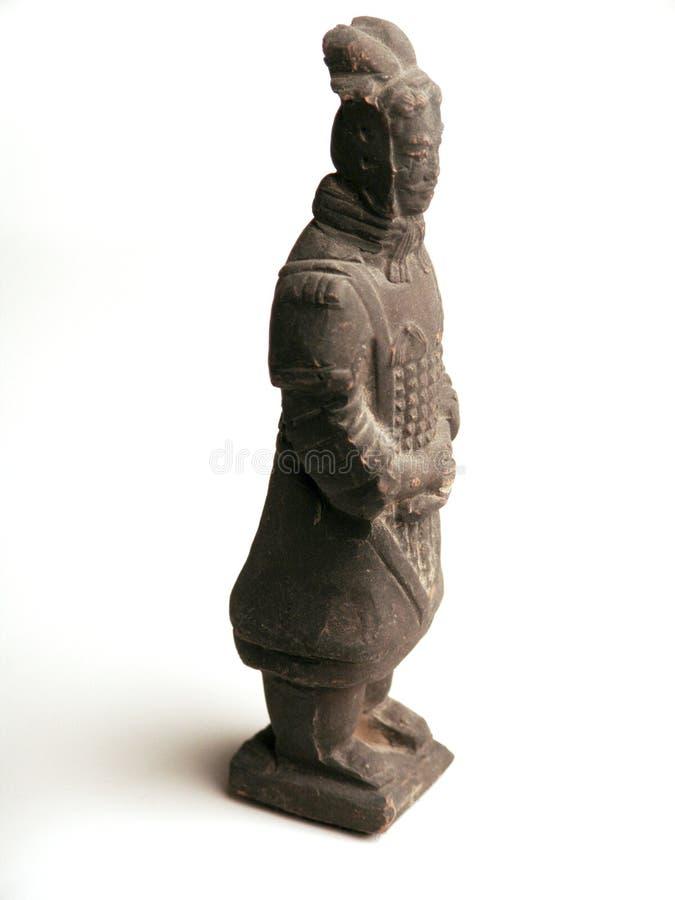 De strijdersstandbeeld van Terracota stock foto