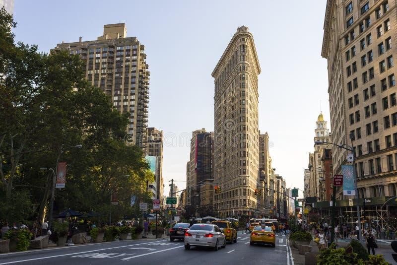 De strijkijzerbouw, de Stad van New York stock foto's