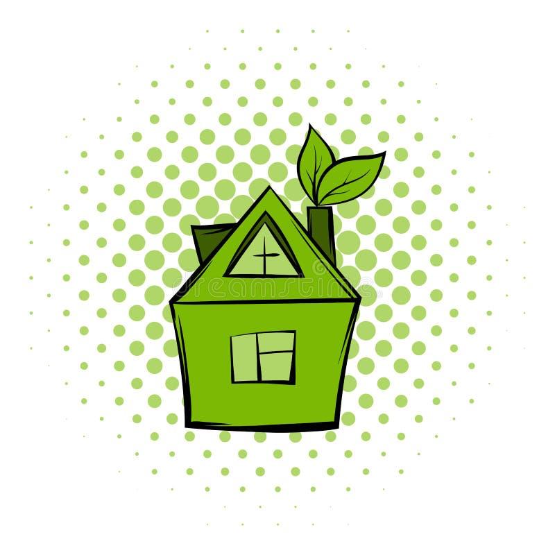 De strippaginapictogram van het Ecohuis vector illustratie