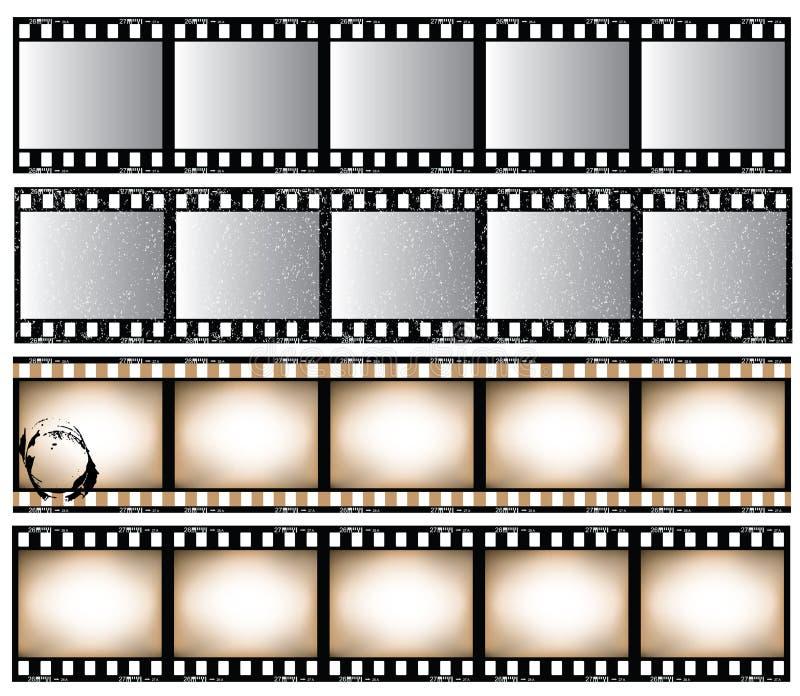 De stroken van de film vector illustratie