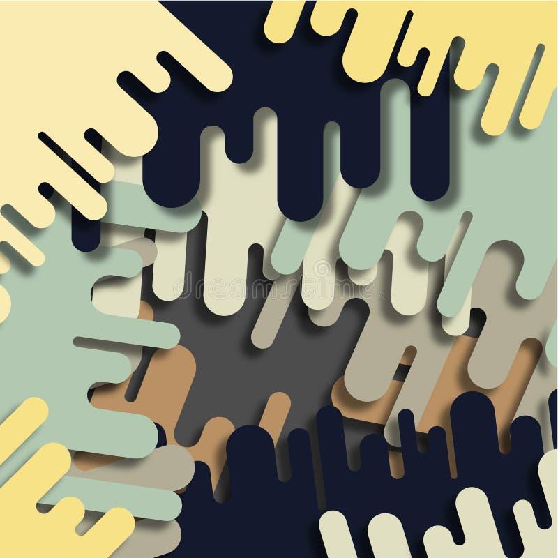 De Stroken van de verf stock illustratie