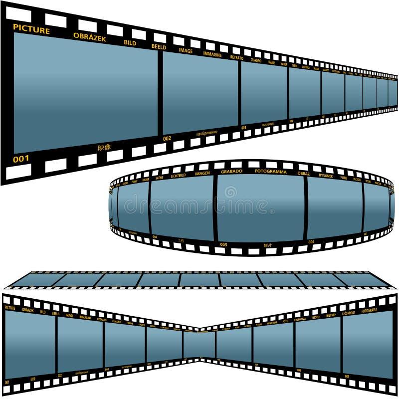 De strook D van de film stock illustratie