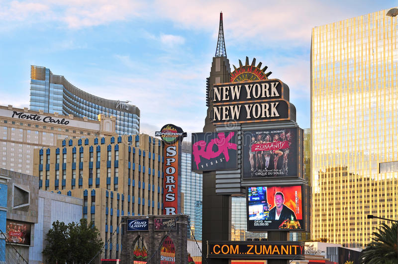 De strook, Las Vegas, Verenigde Staten stock afbeelding