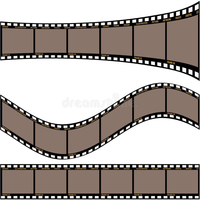 De strook A van de film vector illustratie