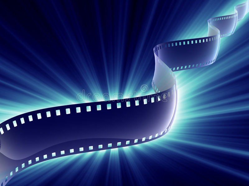 De strook van de film glanst stock illustratie