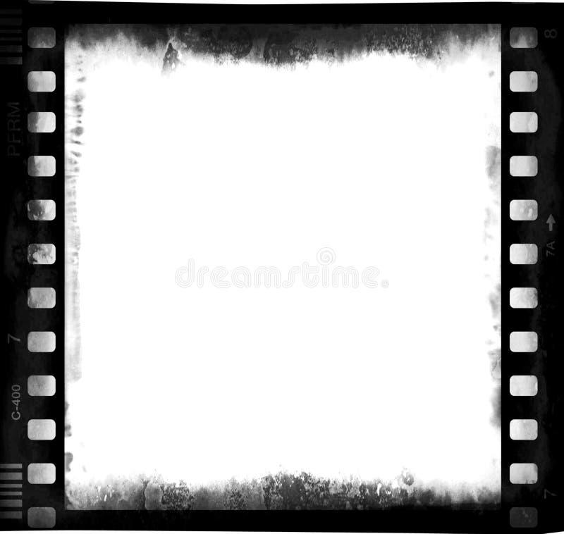 De strook van de film met leeg centraal deel  royalty-vrije stock foto