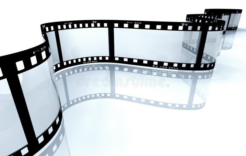 De strook van de film op wit