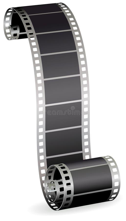 De strook van de film voor foto of video op witte achtergrond royalty-vrije illustratie