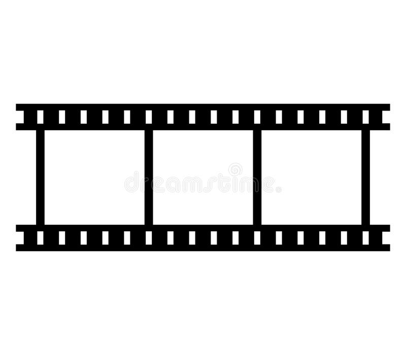De strook van de pictogramfilm vector illustratie