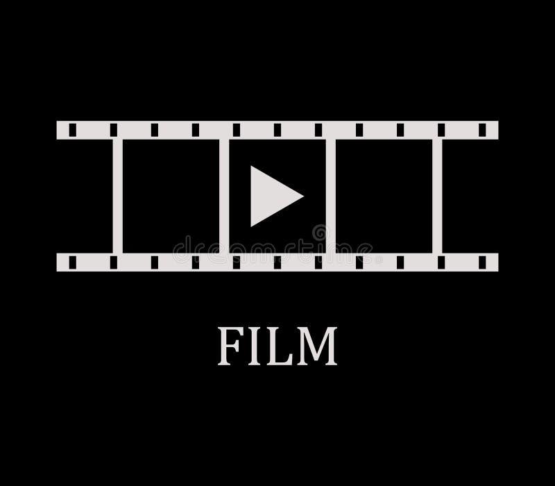 De strook van de pictogramfilm royalty-vrije illustratie