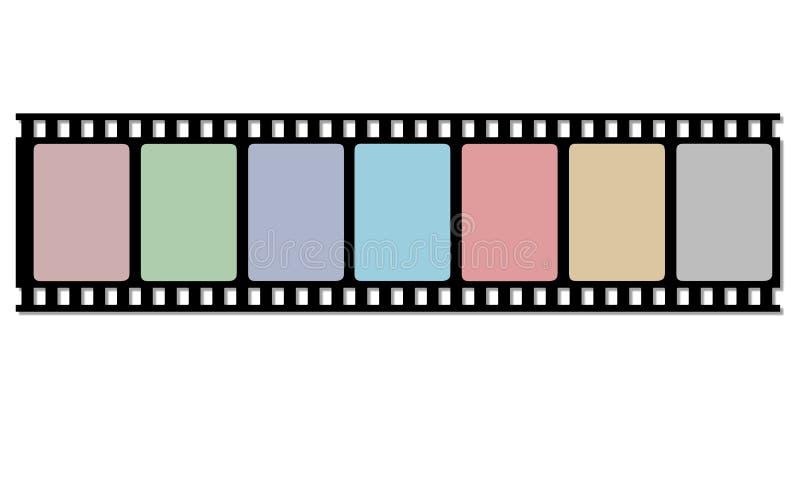 De strook van de spoelfilm vector illustratie