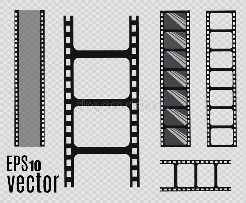 De Strook van de film Vector illustratie reeks stock illustratie