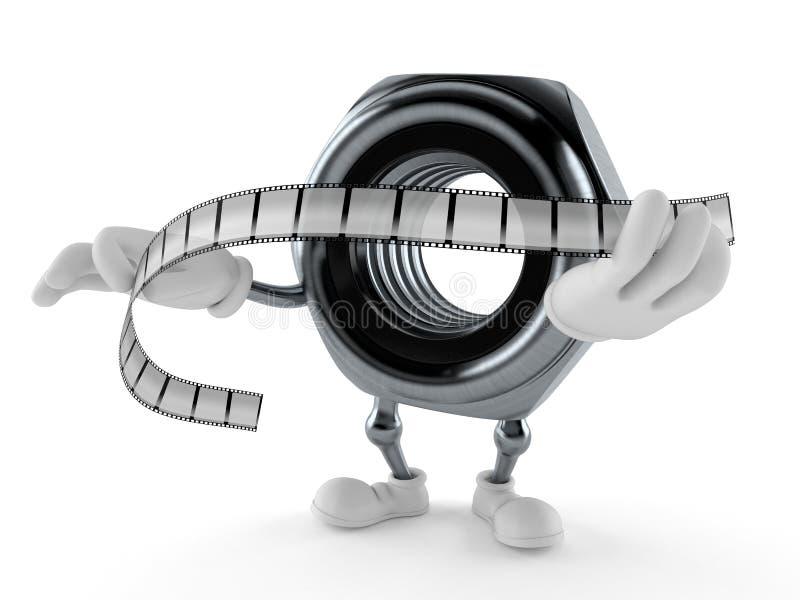 De strook van de de holdingsfilm van het nootkarakter royalty-vrije illustratie