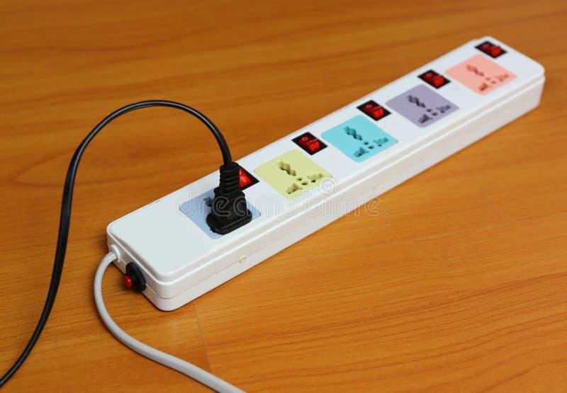 De strook van de machtsafzet Elektrische Stop royalty-vrije stock afbeeldingen