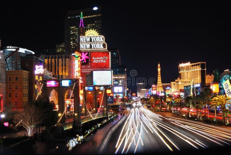 De Strook van Vegas van Las bij nacht royalty-vrije stock afbeeldingen