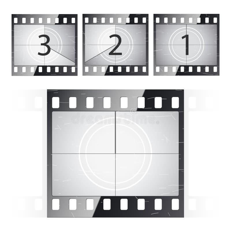 De strookaftelprocedure van de film. Vector. vector illustratie