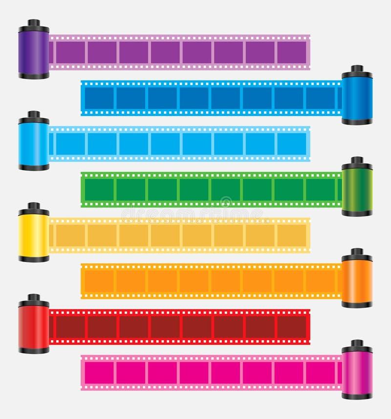 De strookkleur van de film   vector illustratie