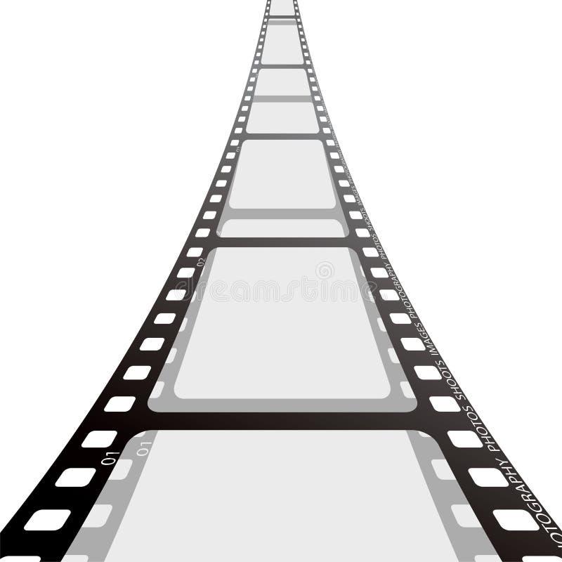 De strookspoel van de film stock illustratie