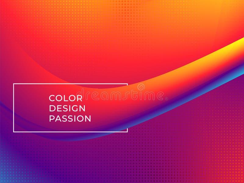 De stroom rode achtergrond van de kleurengolf stock illustratie