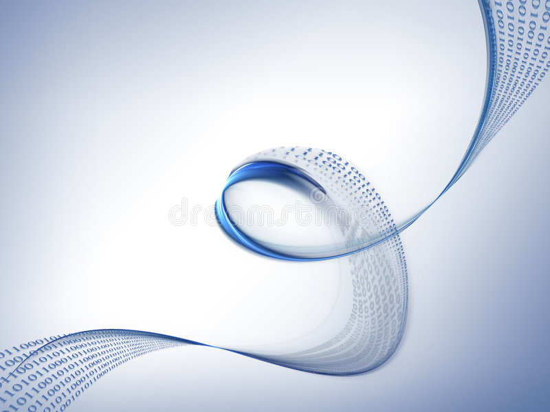 De stroom van binaire codegegevens, gegevensstroom vector illustratie