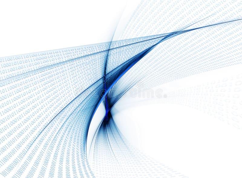 De stroom van binaire codegegevens, mededeling vector illustratie