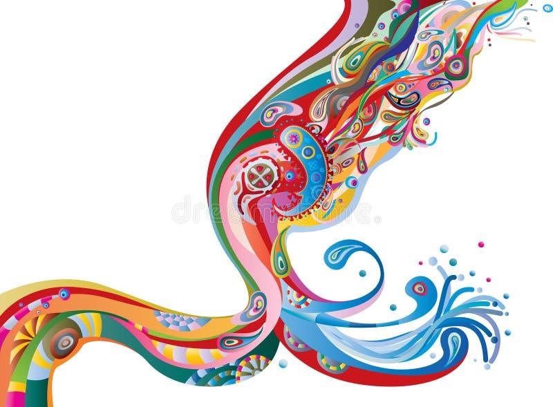 De stroom van de kleur vector illustratie