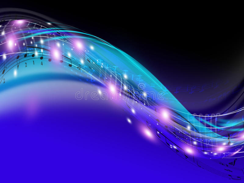 De stroom van de muziek royalty-vrije illustratie