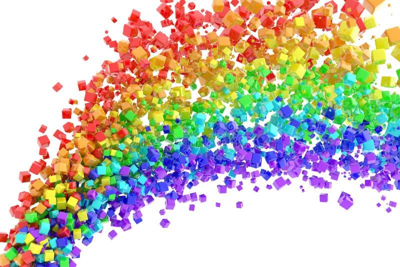 De stroom van de regenboog vector illustratie