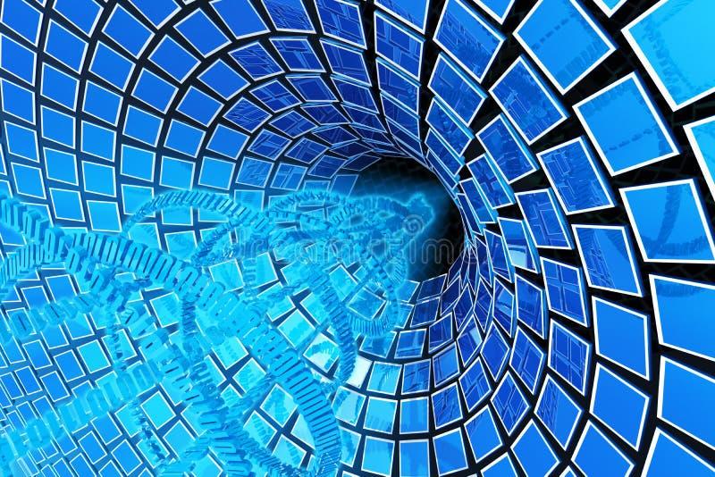 De stroom van gegevens vector illustratie