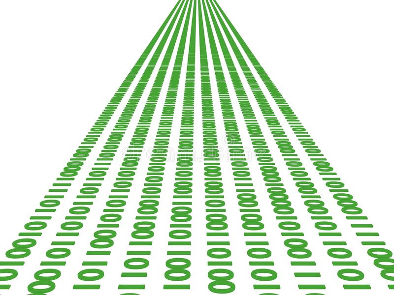 De stroom van gegevens royalty-vrije illustratie
