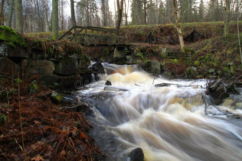 De stroom van het water stock fotografie