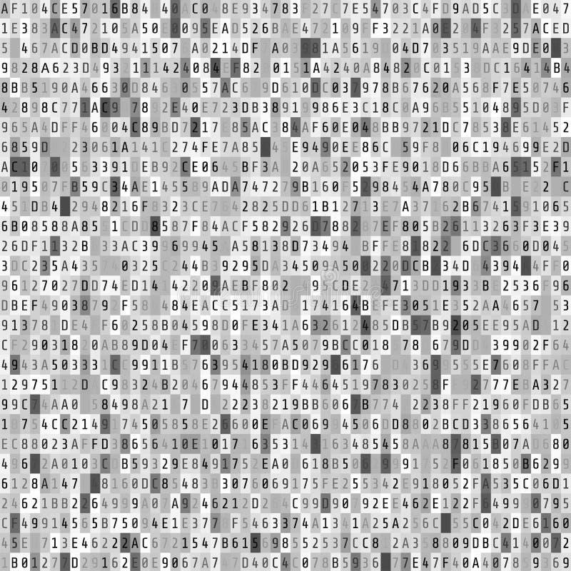 De stroom van de hexuitdraaicode Abstract digitaal gegevenselement great spruit Vector illustratie royalty-vrije illustratie
