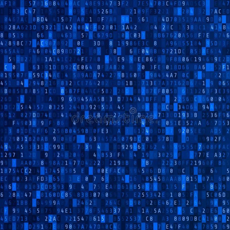 De stroom van de hexuitdraaicode Het Concept van de Veiligheid van Cyber Abstract digitaal gegevenselement great spruit Vector il stock illustratie