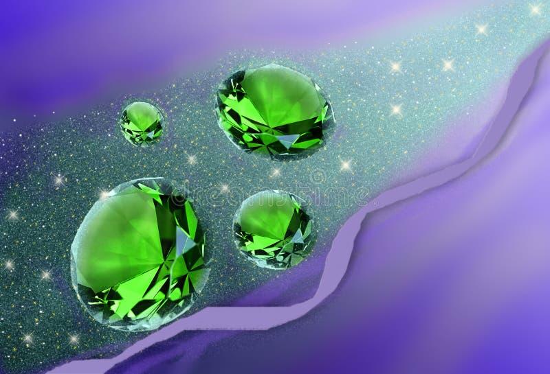 De stroom van kristallen royalty-vrije illustratie