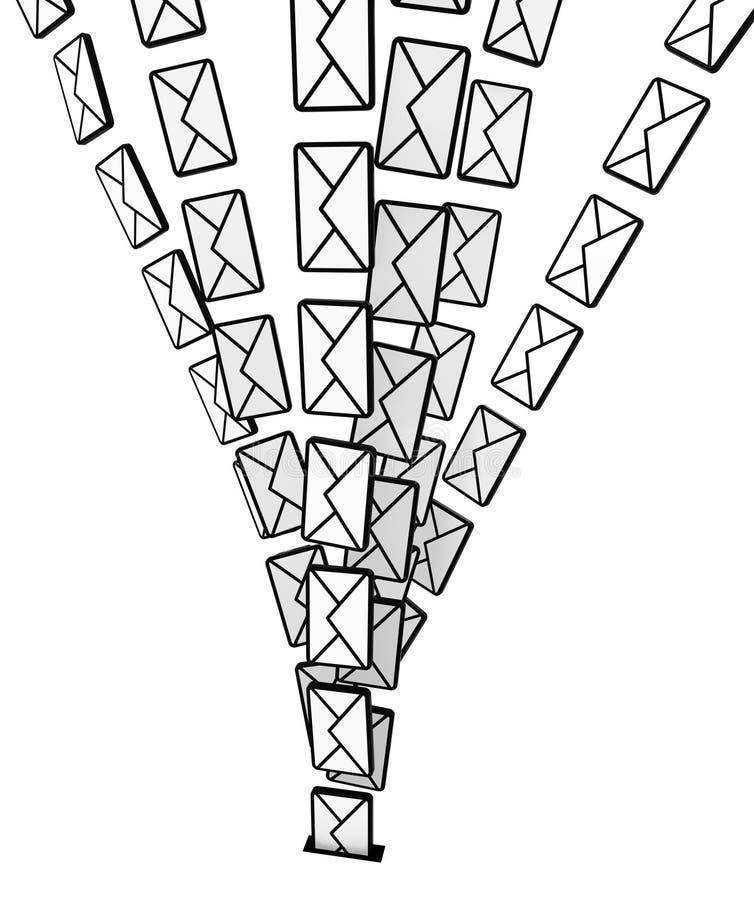 De Stroom van de postgroef vector illustratie