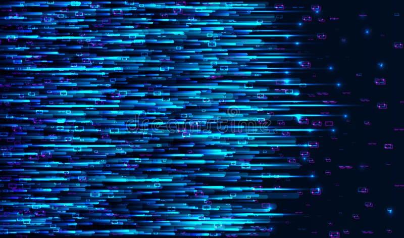 De stroomontwerp van matrijsgegevens Elektronisch signaal royalty-vrije illustratie