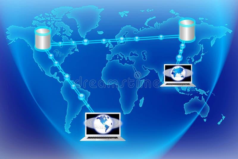 De Stroomtechnologie van wereldgegevens stock illustratie