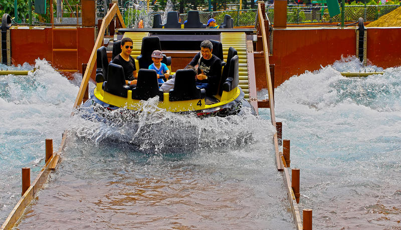 De stroomversnelling bij oceaanpark, Hongkong royalty-vrije stock afbeelding