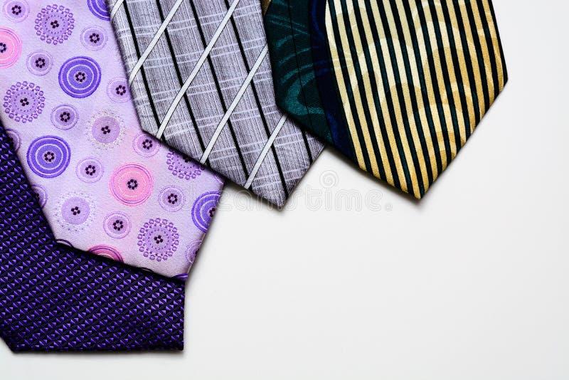 De stropdassen liggen als een ventilator stock foto