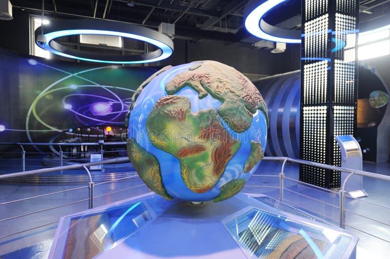 De structuur van de aarde en continentale afwijking stock afbeelding