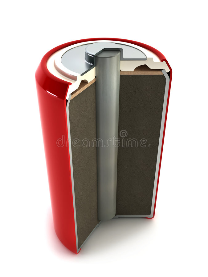 De structuur van de batterij stock illustratie
