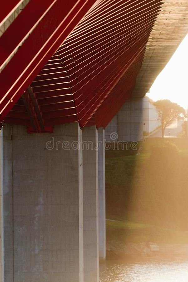 De structuur van de brug stock fotografie