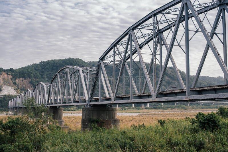 De structuur van de brug stock foto